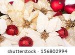Group Of White Poinsettias Wit...