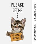Cute Cat Hitchhiker Holding...
