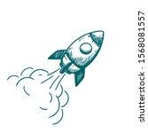 vector illustration of rocket... | Shutterstock .eps vector #1568081557