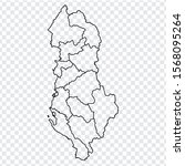 blank map republic of albania....