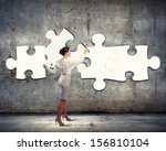 image of businesswoman... | Shutterstock . vector #156810104
