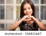 Beautiful Little Girl Making A...