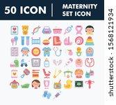 maternity set icons vector ... | Shutterstock .eps vector #1568121934
