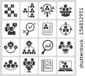 organization management ... | Shutterstock .eps vector #156812951