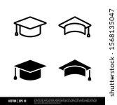 the best graduation cap icons... | Shutterstock .eps vector #1568135047