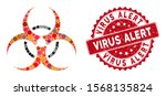 mosaic bio hazard and... | Shutterstock .eps vector #1568135824