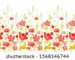watercolor flower  background... | Shutterstock . vector #1568146744