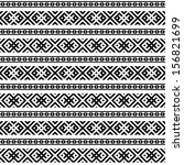 monochromatic ethnic seamless... | Shutterstock .eps vector #156821699
