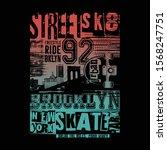 skate rider typography  tee...   Shutterstock .eps vector #1568247751