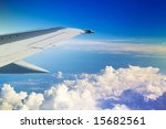 wing of the plane on a... | Shutterstock . vector #15682561