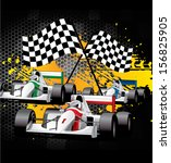 cover   car racing   go cart... | Shutterstock .eps vector #156825905