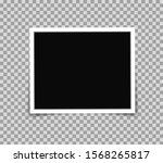 white photo frame picture in... | Shutterstock .eps vector #1568265817