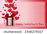 valentine's day concept... | Shutterstock . vector #1568275027