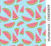 watermelon vector colorful... | Shutterstock .eps vector #156834839