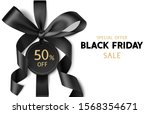 decorative black bow with... | Shutterstock .eps vector #1568354671