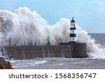Waves Crashing Over Seaham...
