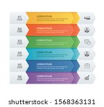 6 data infographics tab paper... | Shutterstock .eps vector #1568363131