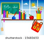 back to school   first day in... | Shutterstock .eps vector #15683653