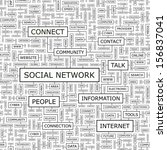 social network. word cloud... | Shutterstock .eps vector #156837041