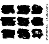 set of abstract black textured... | Shutterstock .eps vector #1568390041