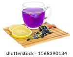 clitoria ternatea blue thai tea ... | Shutterstock . vector #1568390134