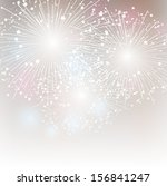 starry fireworks background... | Shutterstock .eps vector #156841247