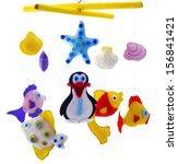 baby mobile   kids toys | Shutterstock . vector #156841421