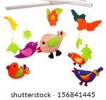 baby mobile   kids toys | Shutterstock . vector #156841445