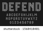 set of alphabets font letters...   Shutterstock .eps vector #1568418481