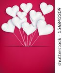 valentines day heart balloons... | Shutterstock .eps vector #156842309