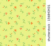 floral vintage seamless pattern.... | Shutterstock .eps vector #156843431