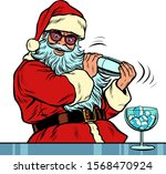 santa claus makes christmas... | Shutterstock .eps vector #1568470924