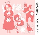 christmas set for creativity ...   Shutterstock .eps vector #1568480401