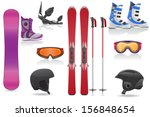 ski and snowboarding set icons... | Shutterstock .eps vector #156848654