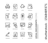 simple set of legal documents... | Shutterstock .eps vector #1568489371