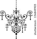 chandelier lighting | Shutterstock . vector #156849905