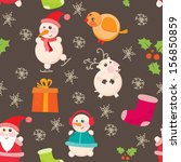 seamless background  christmas... | Shutterstock .eps vector #156850859