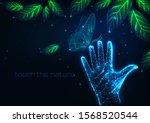 futuristic people nature...   Shutterstock .eps vector #1568520544