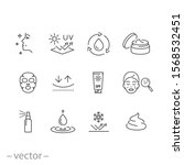 care skin icon set  sunscreen... | Shutterstock .eps vector #1568532451