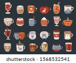 vector collection of hot drink... | Shutterstock .eps vector #1568532541