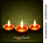 indian festival of diwali design | Shutterstock .eps vector #156854165