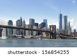 new york city and brooklyn... | Shutterstock . vector #156854255