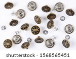 Bronze Vintage Buttons With...