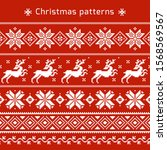 christmas seamless vector... | Shutterstock .eps vector #1568569567