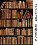 Antique Books On Bookshelf In A ...