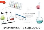 realistic lab equipment... | Shutterstock .eps vector #1568620477