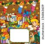 happy christmas frame   border  ... | Shutterstock . vector #156863609