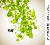 autumn background | Shutterstock .eps vector #156866417