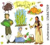 thanksgiving day hand drawn...   Shutterstock .eps vector #156867509