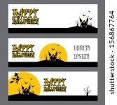 vector halloween banner set for ...   Shutterstock .eps vector #156867764